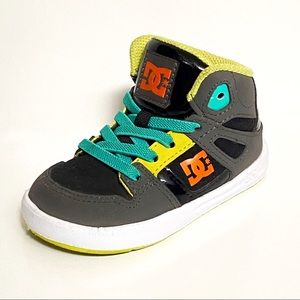 DC Rebound Ul Mid Hi Grey Yellow Black Infant Infant Toddler Baby Boy Shoes Sizs